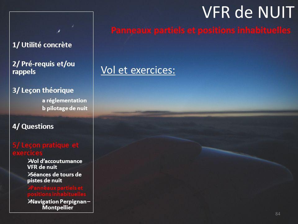 VFR de NUIT Vol et exercices: