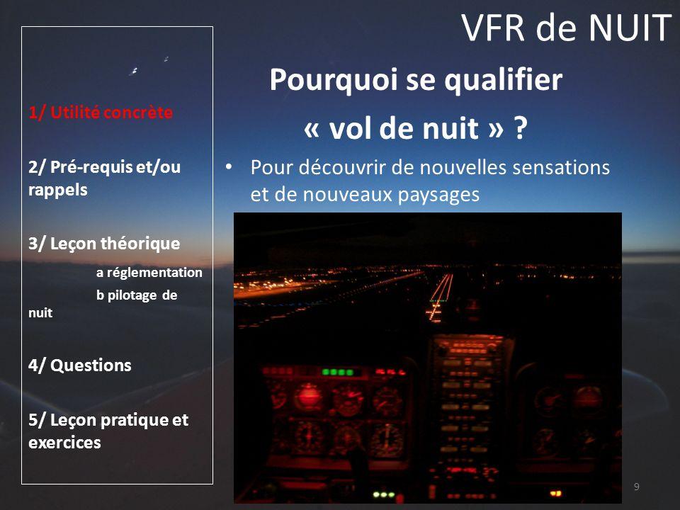 VFR de NUIT Pourquoi se qualifier « vol de nuit »