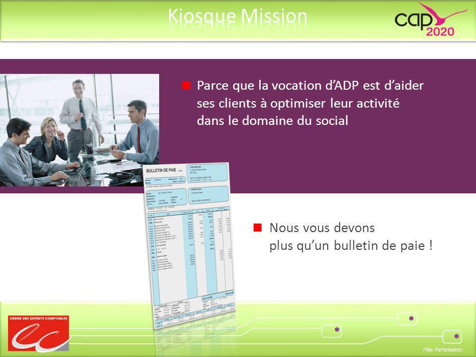 Parce que la vocation d'ADP est d'aider ses clients à optimiser leur activité dans le domaine du social