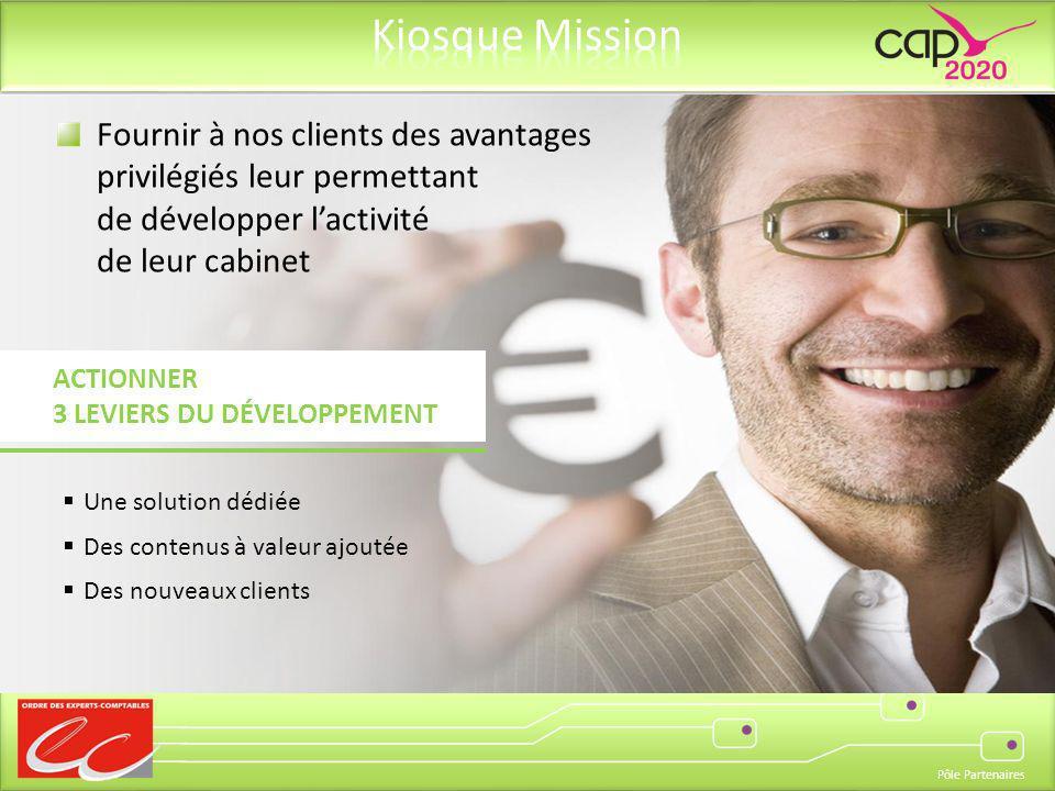 Fournir à nos clients des avantages privilégiés leur permettant de développer l'activité de leur cabinet