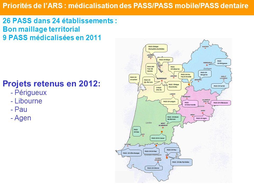 Priorités de l'ARS : médicalisation des PASS/PASS mobile/PASS dentaire