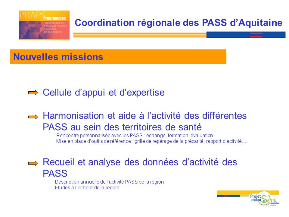 Coordination régionale des PASS d'Aquitaine