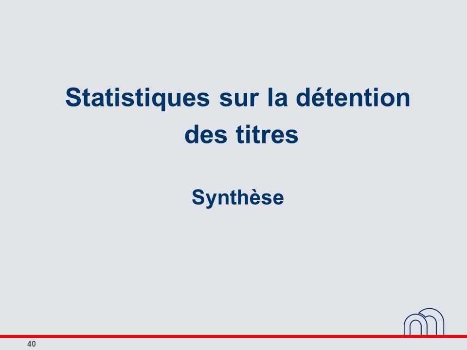 Statistiques sur la détention