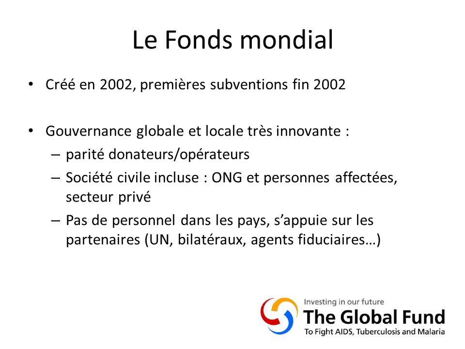 Le Fonds mondial Créé en 2002, premières subventions fin 2002