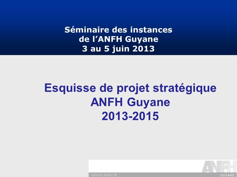 Esquisse de projet stratégique ANFH Guyane 2013-2015