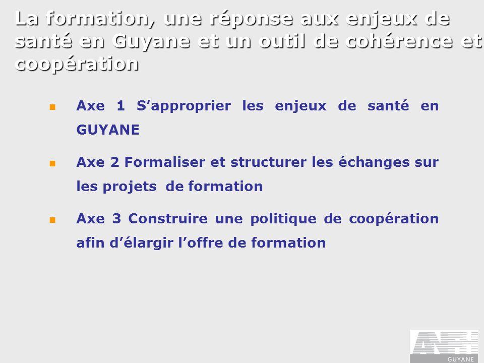 La formation, une réponse aux enjeux de santé en Guyane et un outil de cohérence et coopération