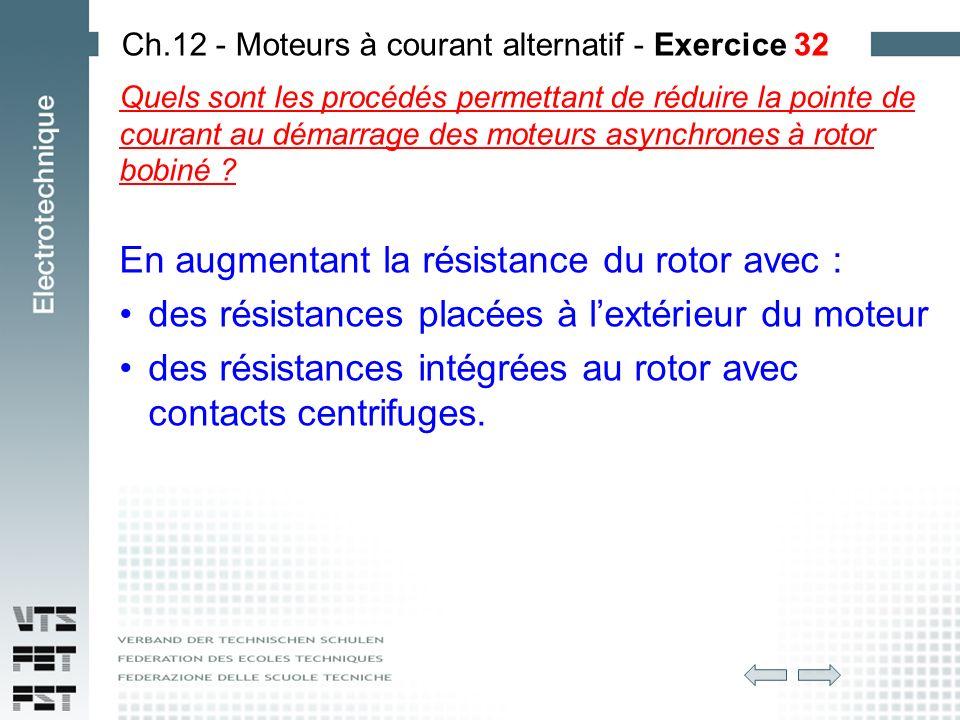 Exercice demarrage moteur asynchrone