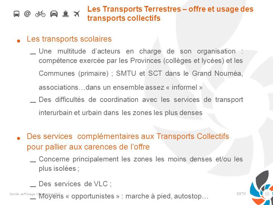 Les Transports Terrestres – offre et usage des transports collectifs
