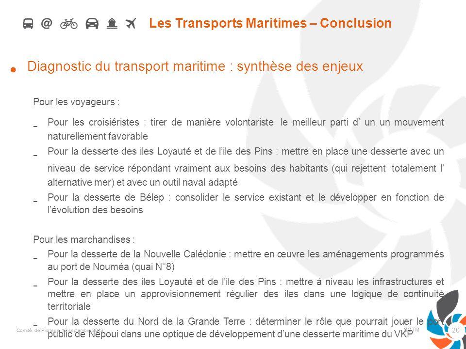 Les Transports Maritimes – Conclusion