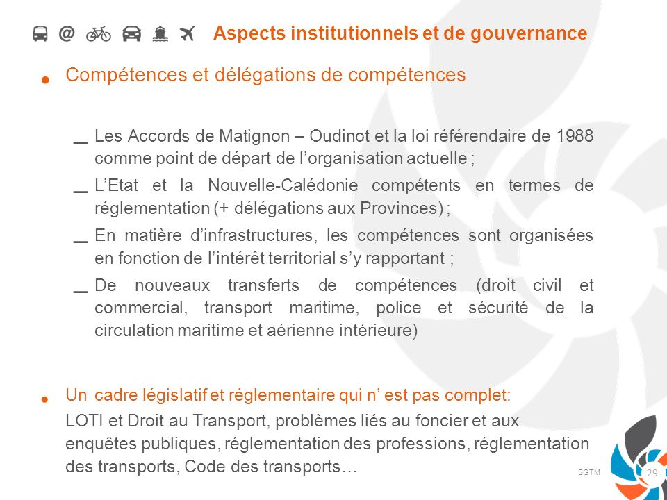 Aspects institutionnels et de gouvernance