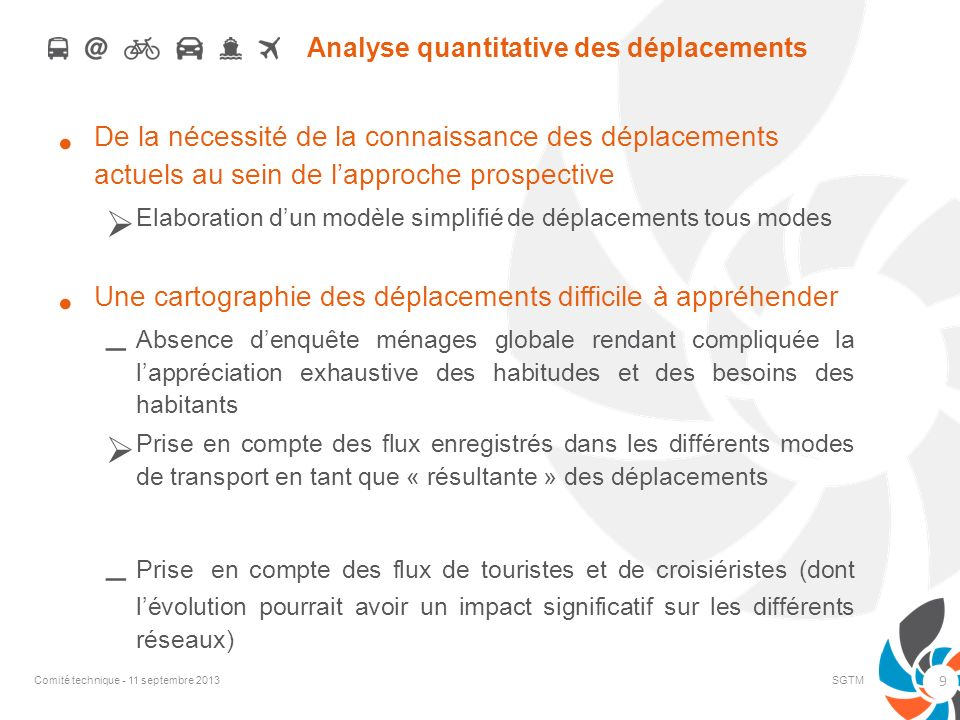 Analyse quantitative des déplacements