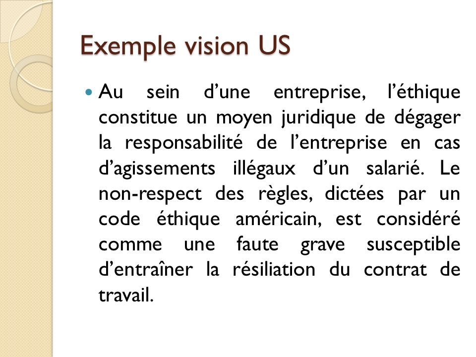 Exemple vision US