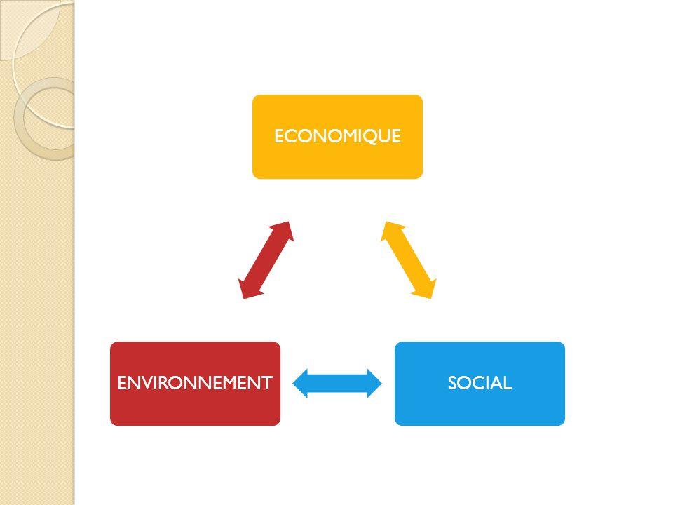 ECONOMIQUE SOCIAL ENVIRONNEMENT