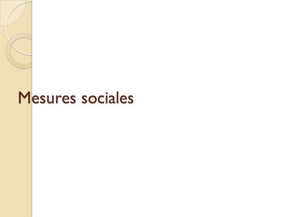 Mesures sociales