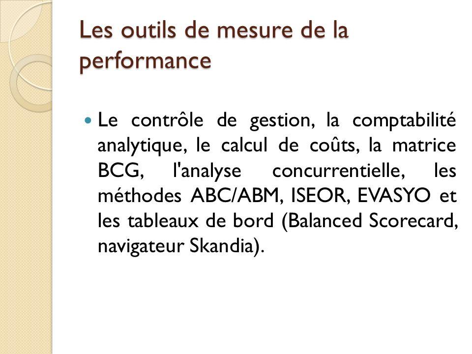 Les outils de mesure de la performance