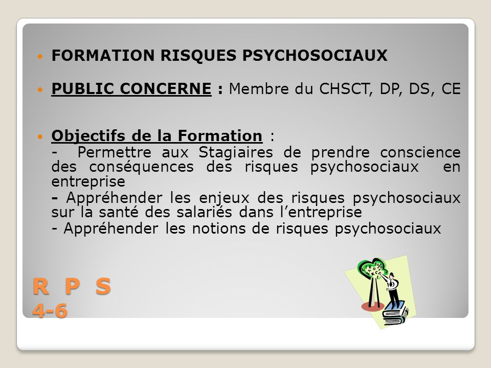 R P S 4-6 FORMATION RISQUES PSYCHOSOCIAUX