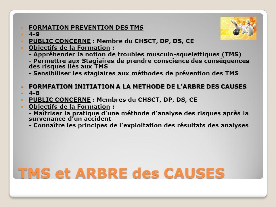 TMS et ARBRE des CAUSES FORMATION PREVENTION DES TMS 4-9