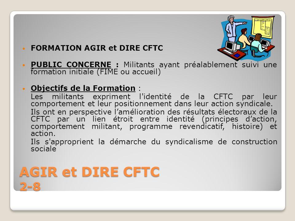 AGIR et DIRE CFTC 2-8 FORMATION AGIR et DIRE CFTC