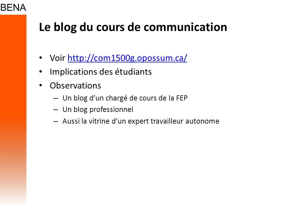 Le blog du cours de communication