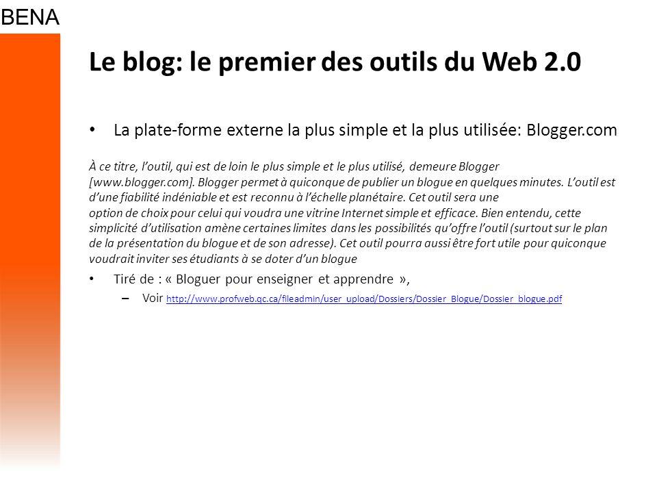 Le blog: le premier des outils du Web 2.0
