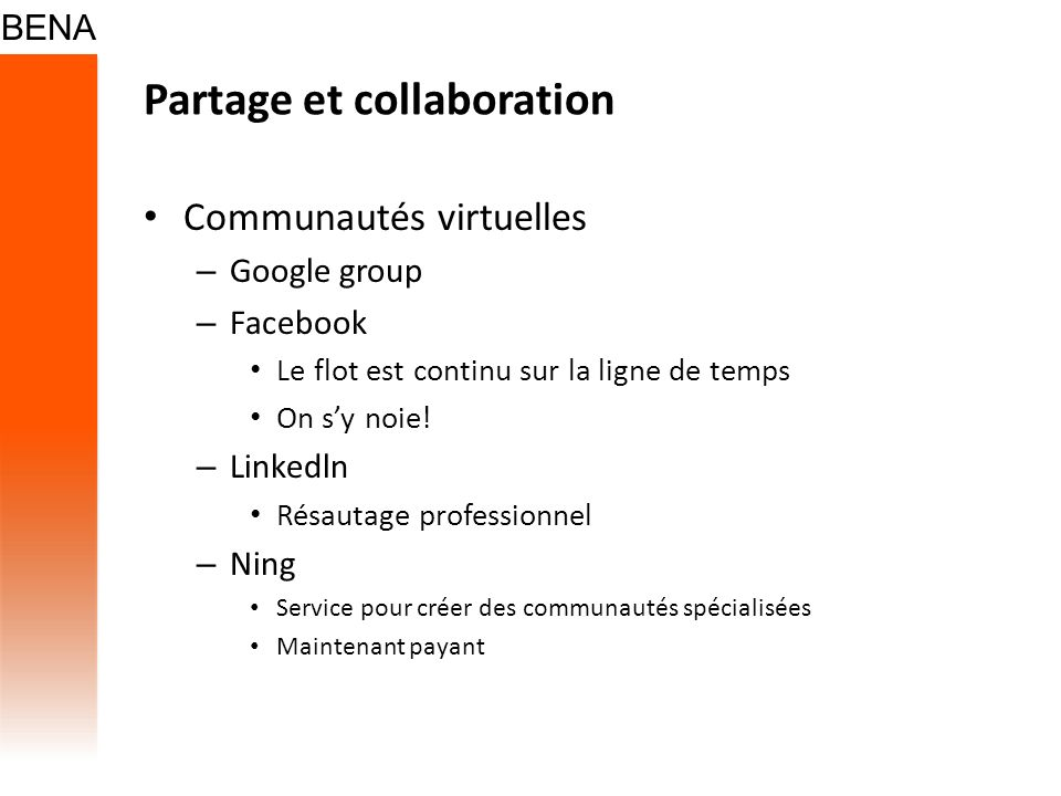 Partage et collaboration