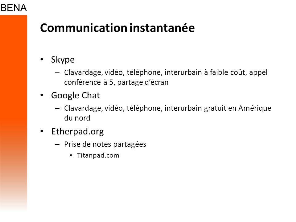 Communication instantanée
