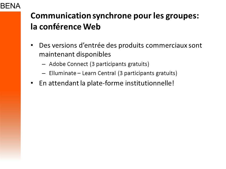 Communication synchrone pour les groupes: la conférence Web