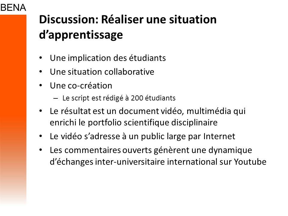 Discussion: Réaliser une situation d'apprentissage
