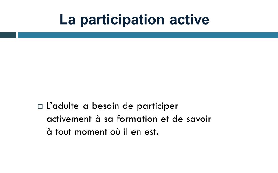 La participation active