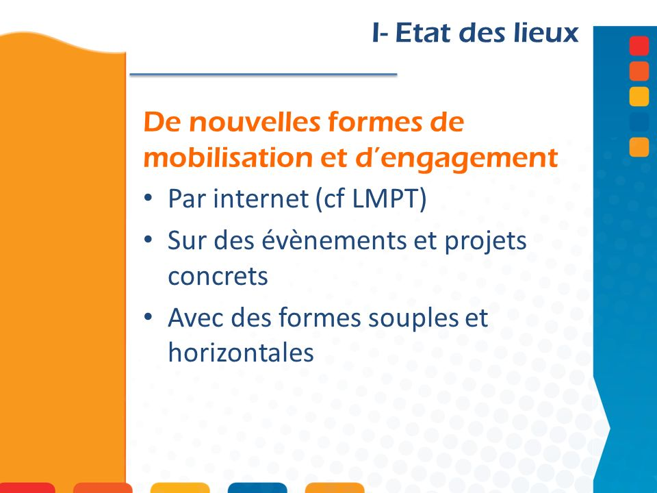 De nouvelles formes de mobilisation et d'engagement