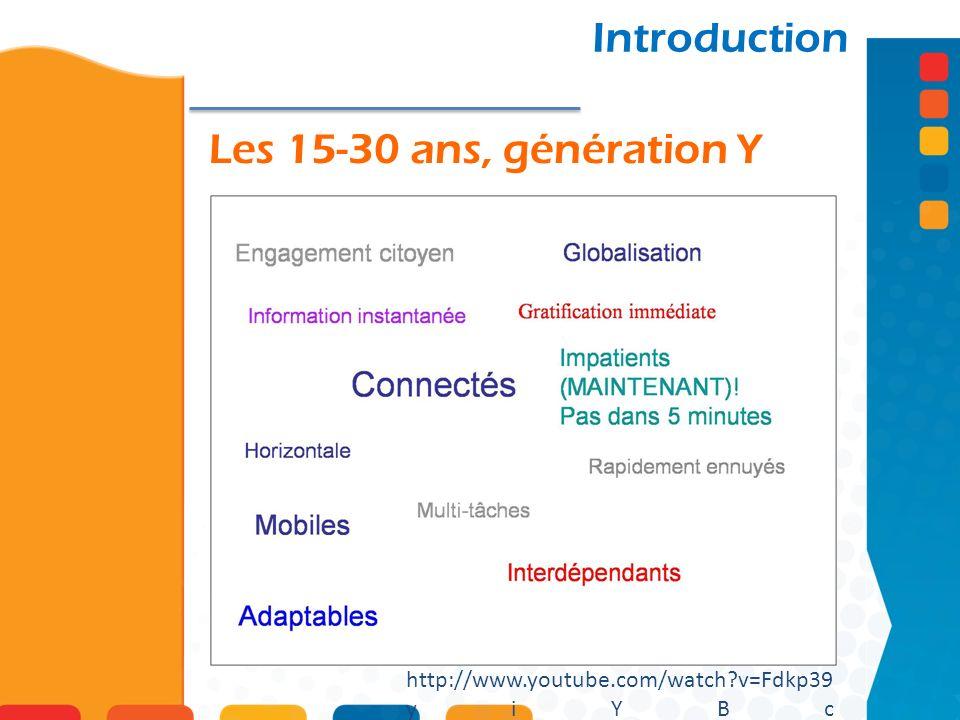Introduction Les 15-30 ans, génération Y