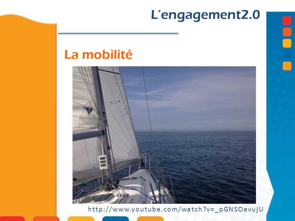 L'engagement2.0 La mobilité http://www.youtube.com/watch v=_pGNSOevujU