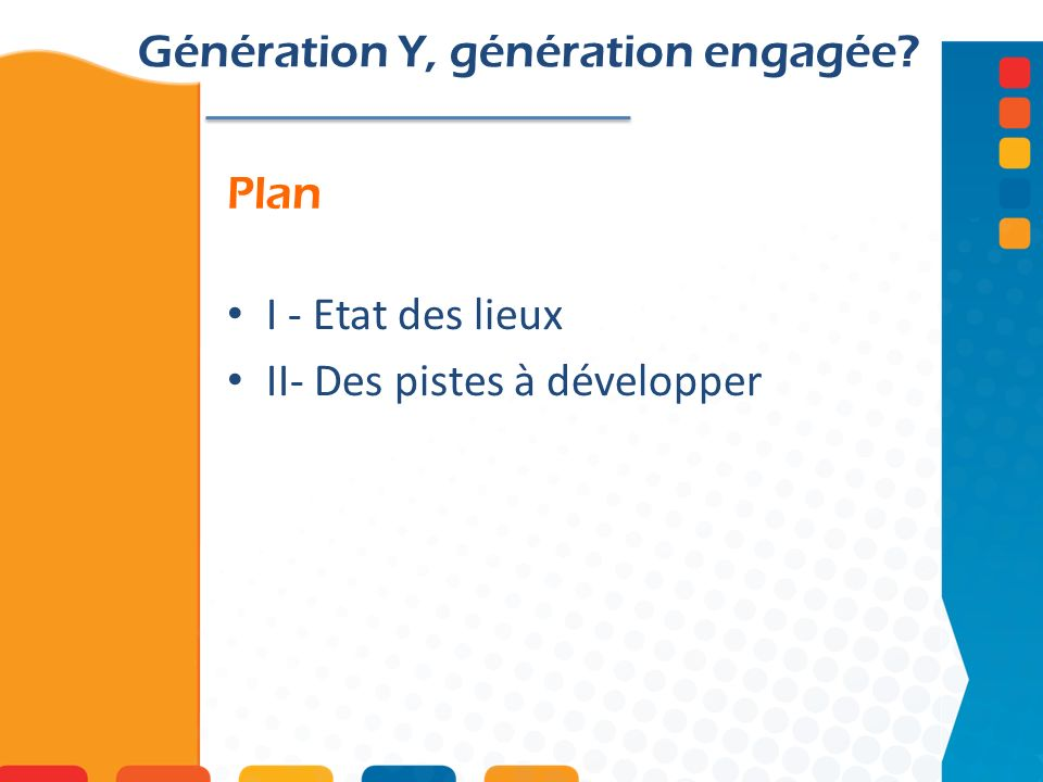 Génération Y, génération engagée