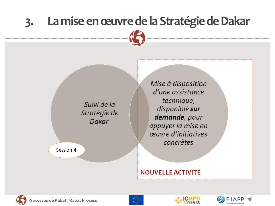 La mise en œuvre de la Stratégie de Dakar
