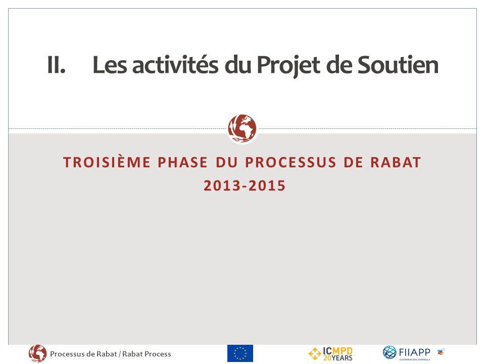 Les activités du Projet de Soutien