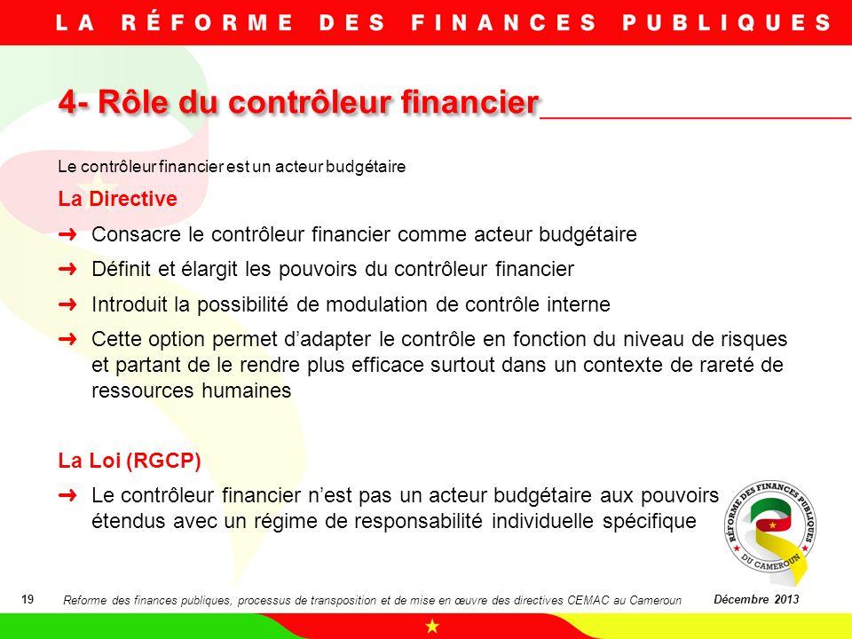 4- Rôle du contrôleur financier