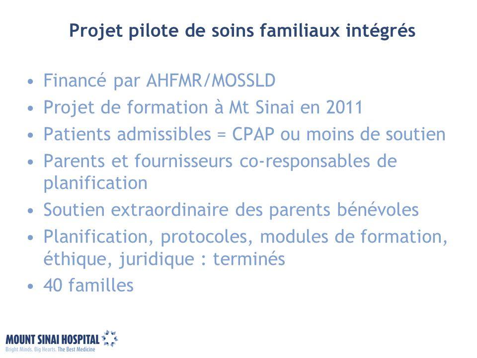 Projet pilote de soins familiaux intégrés