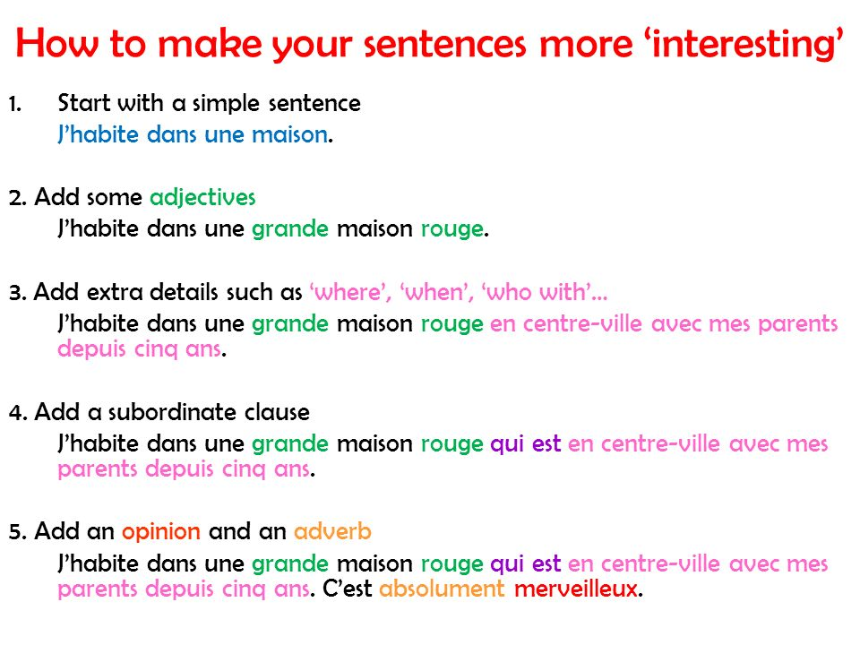 How to make your sentences more 'interesting'