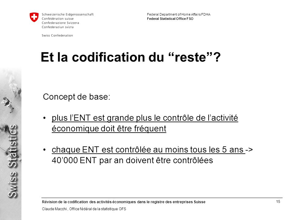 Et la codification du reste