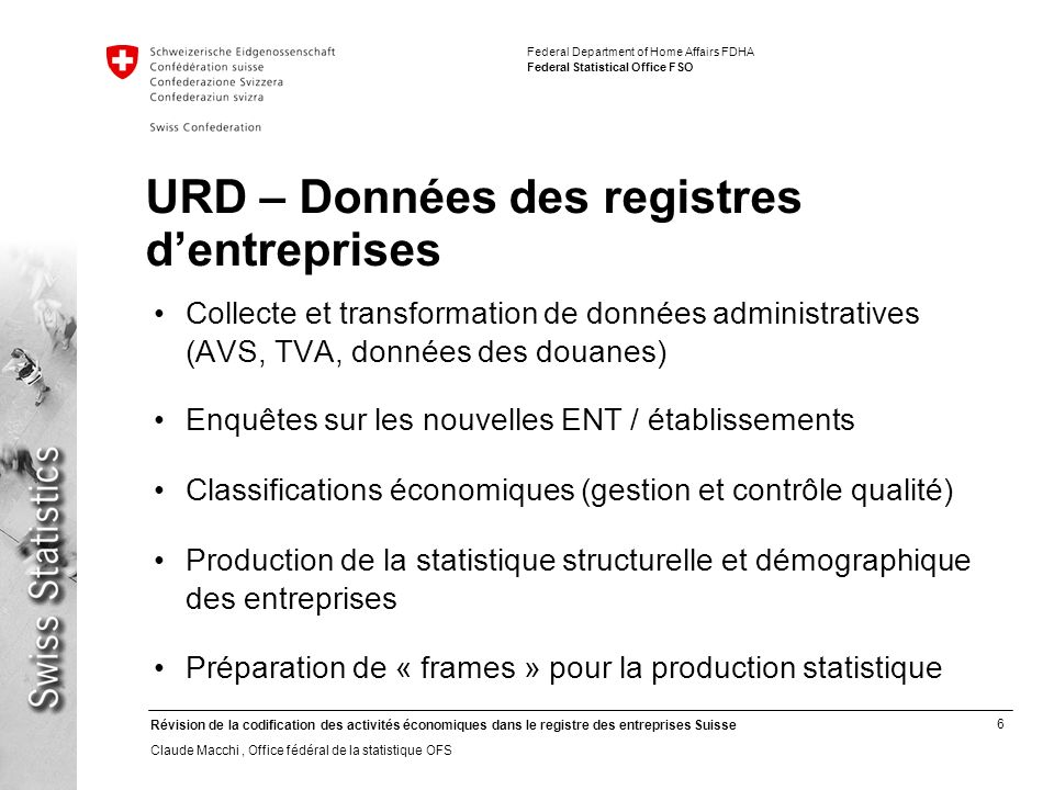 URD – Données des registres d'entreprises