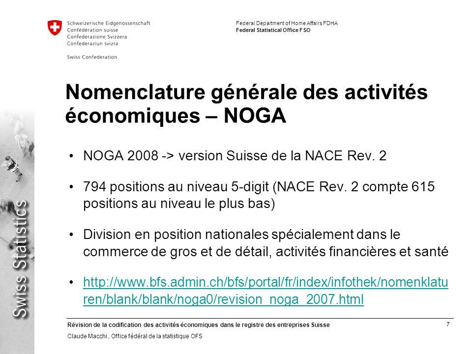 Nomenclature générale des activités économiques – NOGA