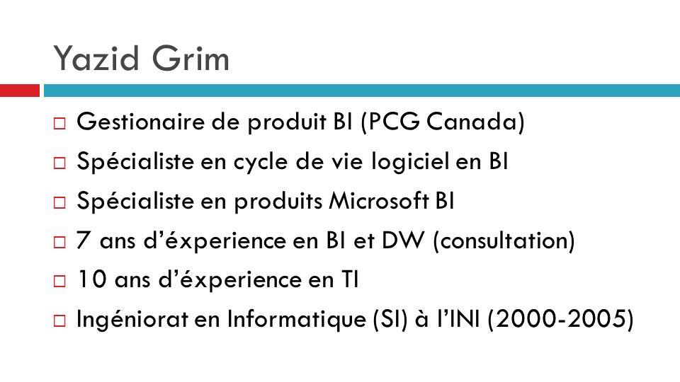 Yazid Grim Gestionaire de produit BI (PCG Canada)