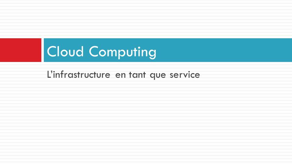 Cloud Computing L'infrastructure en tant que service