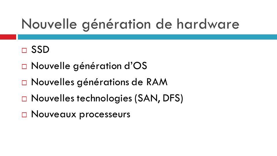 Nouvelle génération de hardware