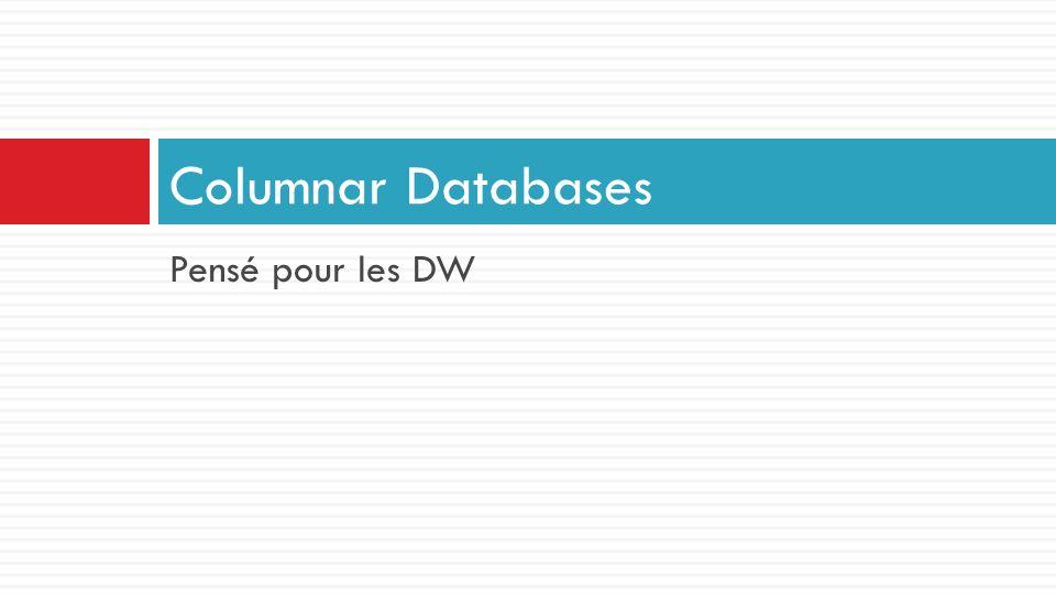 Columnar Databases Pensé pour les DW