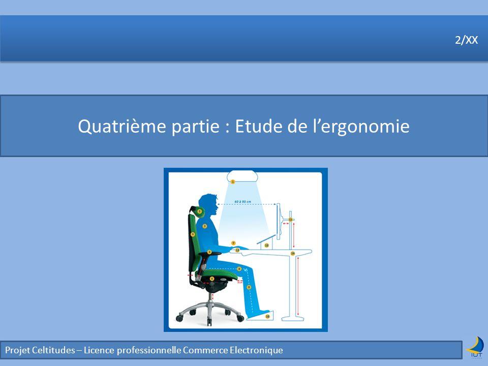 Quatrième partie : Etude de l'ergonomie