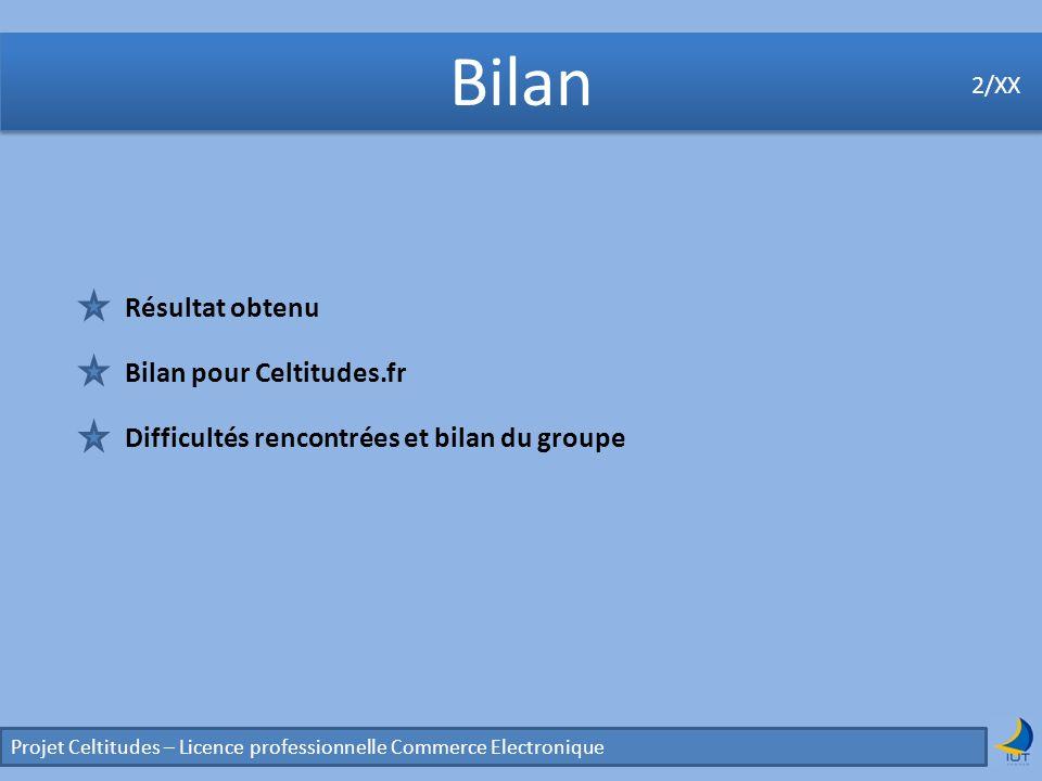Bilan Résultat obtenu Bilan pour Celtitudes.fr