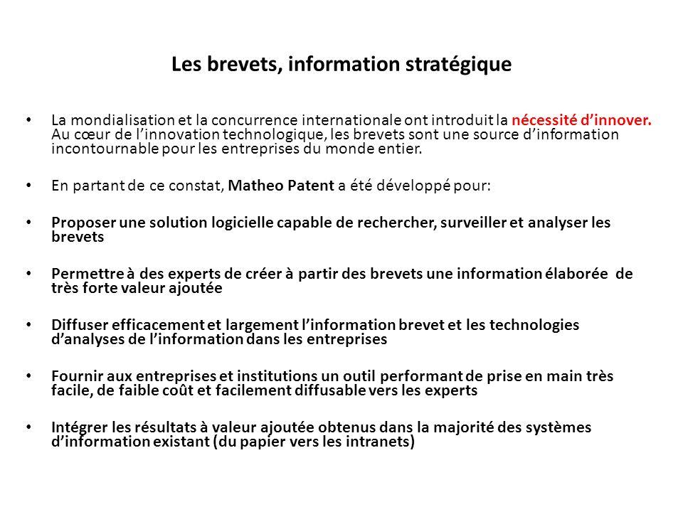 Les brevets, information stratégique