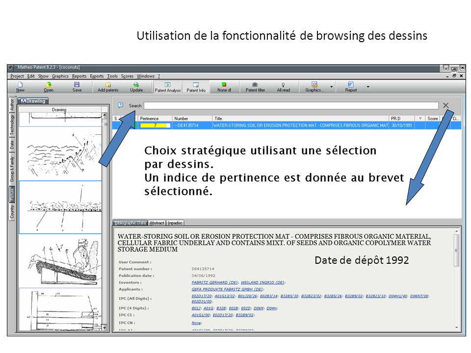 Utilisation de la fonctionnalité de browsing des dessins
