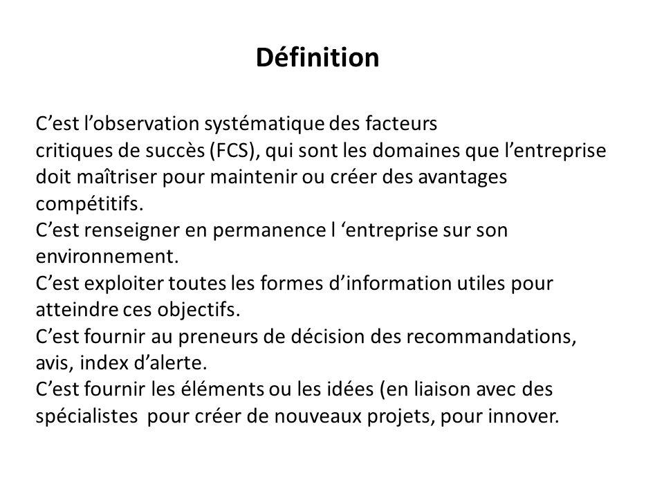 Définition C'est l'observation systématique des facteurs